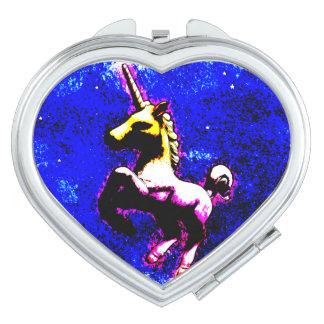 Unicorn Compact Mirror Heart (Punk Cupcake)