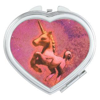 Unicorn Compact Mirror Heart (Red Intensity)