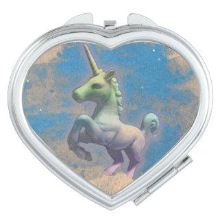 Unicorn Compact Mirror Heart (Sandy Blue)