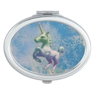 Unicorn Compact Mirror Oval (Blue Arctic)