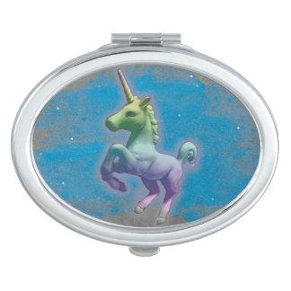 Unicorn Compact Mirror Oval (Blue Nebula)