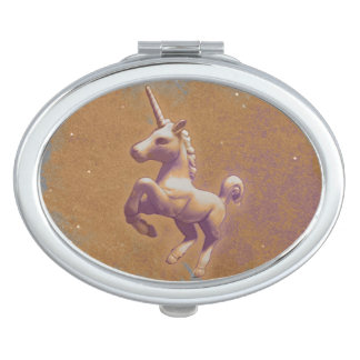 Unicorn Compact Mirror Oval (Metal Lavender)