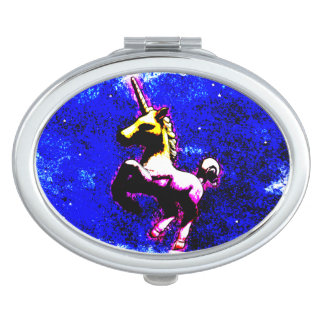 Unicorn Compact Mirror Oval (Punk Cupcake)