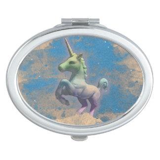 Unicorn Compact Mirror Oval (Sandy Blue)
