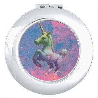 Unicorn Compact Mirror Round (Cupcake Pink)