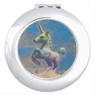 Unicorn Compact Mirror Round (Sandy Blue)