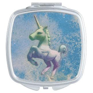 Unicorn Compact Mirror Square (Blue Arctic)