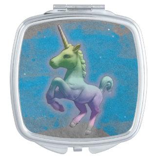 Unicorn Compact Mirror Square (Blue Nebula)