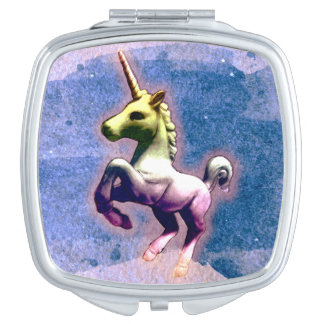 Unicorn Compact Mirror Square (Burnt Blue)