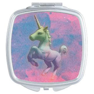 Unicorn Compact Mirror Square (Cupcake Pink)