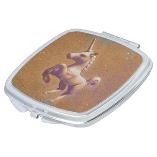 Unicorn Compact Mirror Square (Metal Lavender)