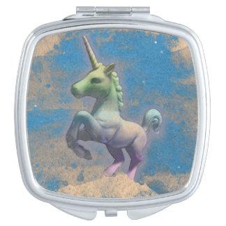 Unicorn Compact Mirror Square (Sandy Blue)