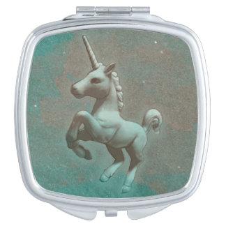 Unicorn Compact Mirror Square (Teal Steel)