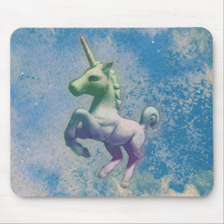Unicorn Computer Mouse Pad (Blue Arctic)