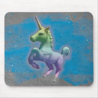Unicorn Computer Mouse Pad (Blue Nebula)