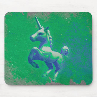 Unicorn Computer Mouse Pad (Glowing Emerald)