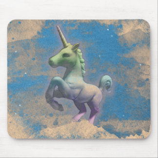 Unicorn Computer Mouse Pad (Sandy Blue)