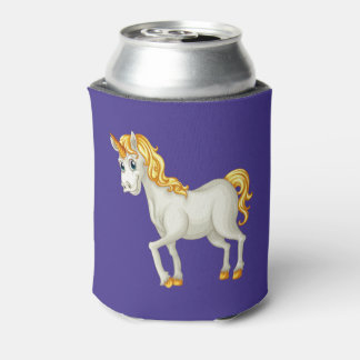 Unicorn custom monogram can cooler