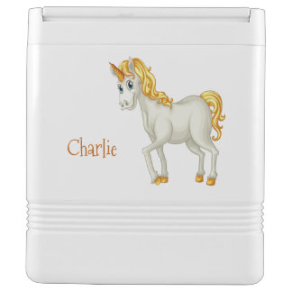 Unicorn custom name cooler igloo cool box