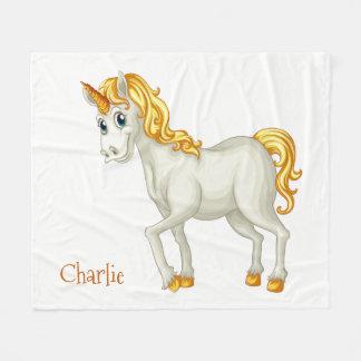 Unicorn custom name fleece blankets