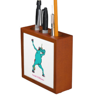 Unicorn Dabbing Desk Organiser