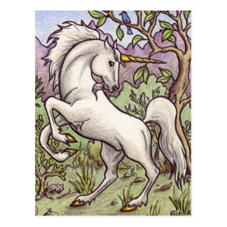 Unicorn Dancing postcard