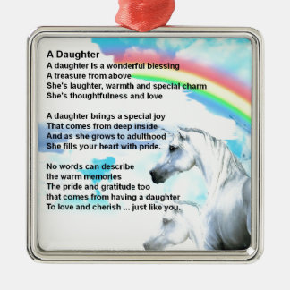 unicorn - Daughter Poem Christmas Ornament