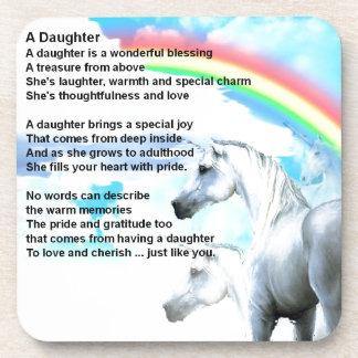 unicorn - Daughter Poem Coaster