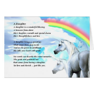 Unicorn Design - Daughter Poem Card
