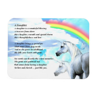 Unicorn Design - daughter Poem Magnet