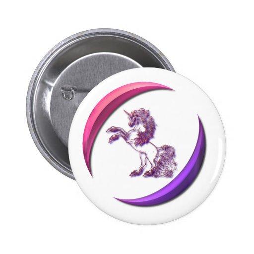 Unicorn Design Round Button