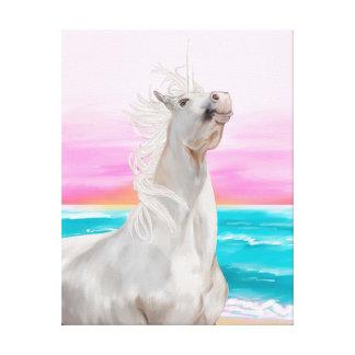Unicorn Digital Oil Painting On Canvas Canvas Prints
