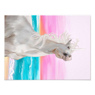 Unicorn Digital Oil Painting On Photo Paper