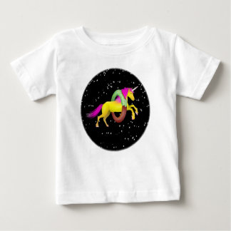 Unicorn Doughnut Donut Space Baby T-Shirt