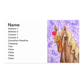 """Unicorn & Dragonflies"" Double-Sided Standard Business Cards (Pack Of 100)"