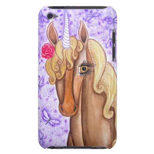 """""""Unicorn & Dragonflies"""" Barely There iPod Cover"""