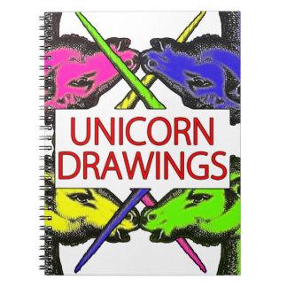 Unicorn Drawings - Funny Notebook Real Unicorns