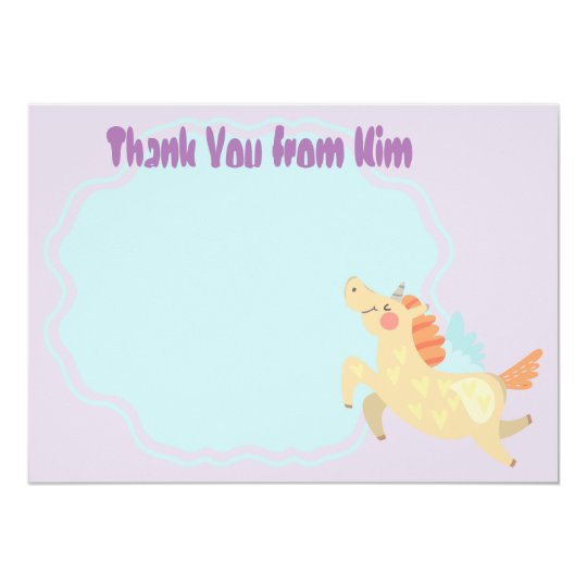 Unicorn Dream Kids Thank You Cards