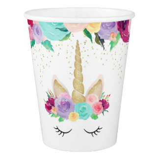 Unicorn Dreams Birthday Party Baby Shower Cup