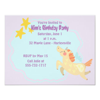Unicorn Dreams Birthday Party Invitation