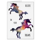 Unicorn Dreams Blank Greeting Card