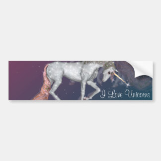Unicorn Dreams Bumper Sticker