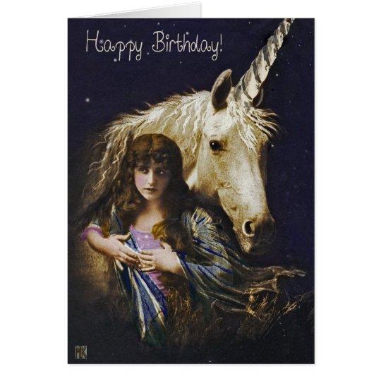 Unicorn Dreams Happy Birthday Card