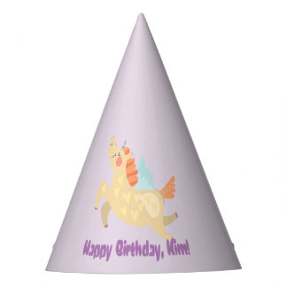 Unicorn Dreams Personalized Party Hats