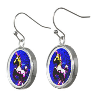 Unicorn Drop Dangly Earrings (Punk Cupcake)