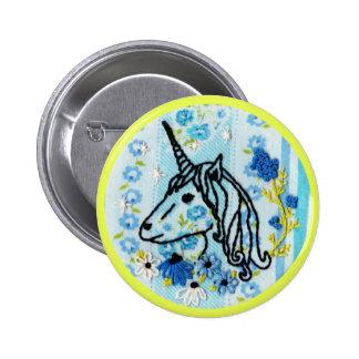 Unicorn Embroidery Button - Unicorn Button