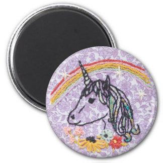 Unicorn Embroidery Magnet - Unicorn Magnet