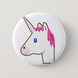 Unicorn emoji 6 cm round badge