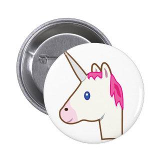 Unicorn emoji 6 cm round badge
