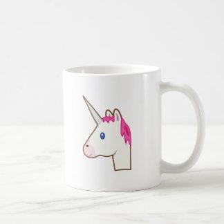 Unicorn emoji basic white mug
